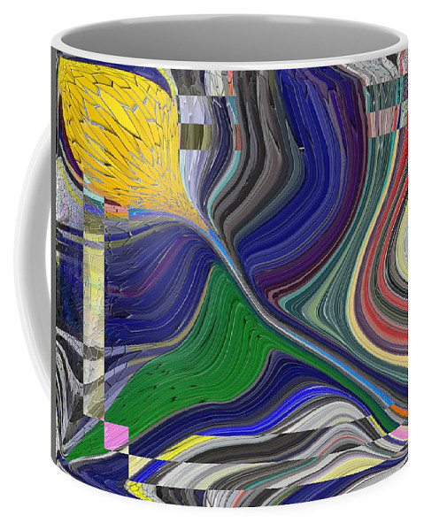 Abstract Coffee Mug featuring the digital art Springtime Delight by Tim Allen