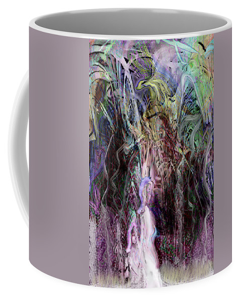 Digital Art Coffee Mug featuring the digital art Springtime In Paris by Linda Sannuti