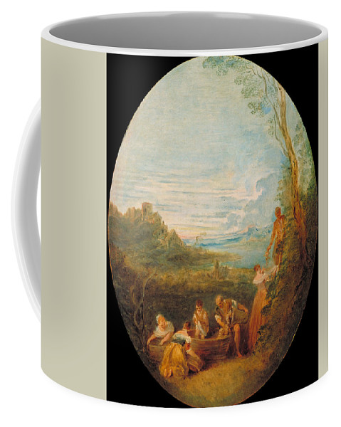 Jean-baptiste Pater Coffee Mug featuring the painting Springtime by Jean-Baptiste Pater
