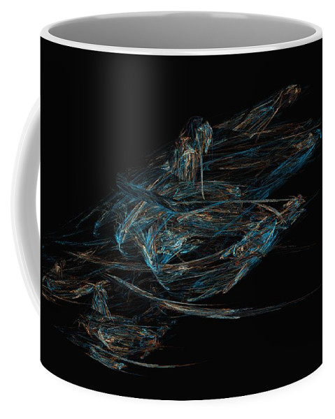 Abstract Digital Painting Coffee Mug featuring the digital art Sprint by David Lane