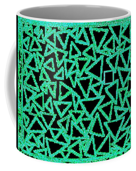 Abstract Coffee Mug featuring the digital art Square One by Will Borden