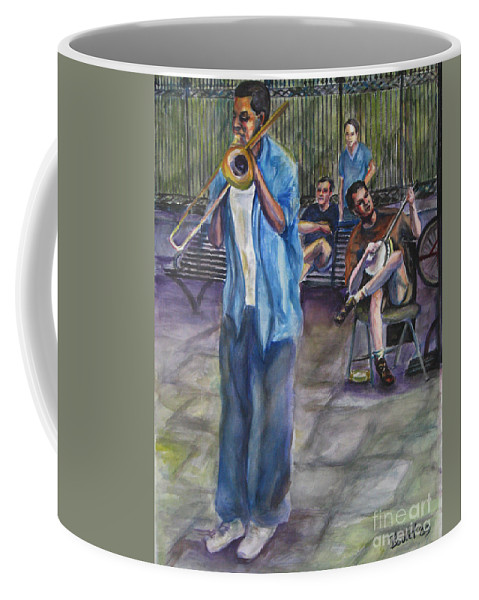New Orleans Coffee Mug featuring the painting Square Slide by Beverly Boulet