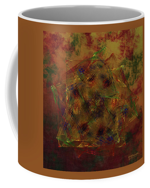 Square Coffee Mug featuring the digital art Squarenix Blotcharindo by Diane Parnell