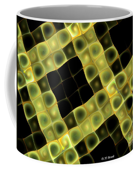 Fractal Coffee Mug featuring the digital art Squares In Abstract by Deborah Benoit