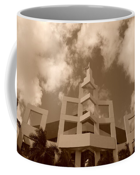Architecture Coffee Mug featuring the photograph Squares In The Sky by Rob Hans