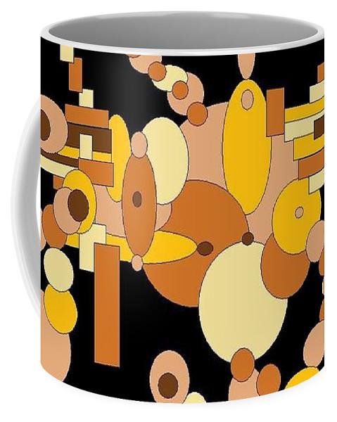Digital Artwork Coffee Mug featuring the digital art Squiggly by Jordana Sands