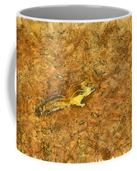 Squirrel Coffee Mug featuring the photograph Squirrel On The Ground by Ashish Agarwal