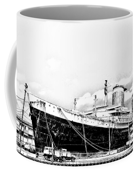Philadelphia Coffee Mug featuring the photograph Ss United States by Bill Cannon