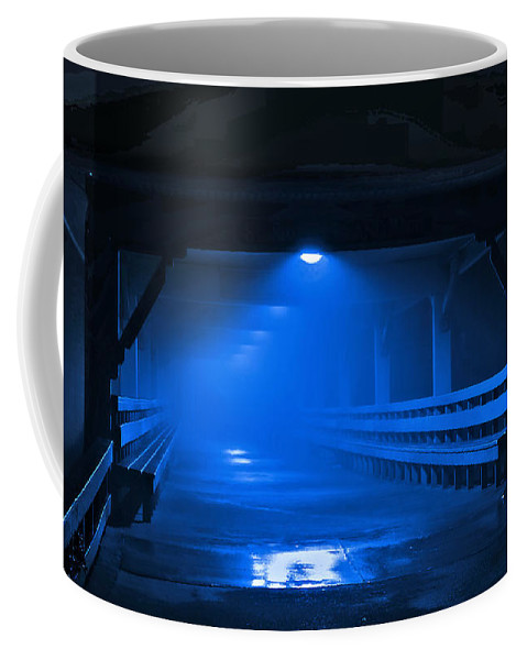 Pier Coffee Mug featuring the photograph Missing You Blues by Laura Ragland