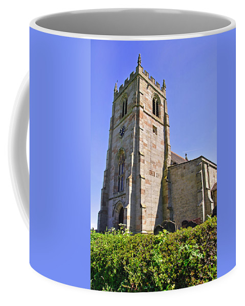 Green Coffee Mug featuring the photograph St Andrew's Church At Cubley In Derbyshire by Rod Johnson