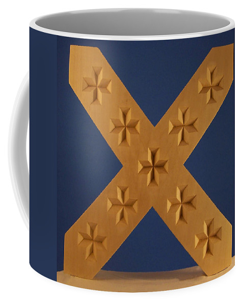 St. Andrews Cross Coffee Mug featuring the photograph St. Andrew's Cross by James Pinkerton
