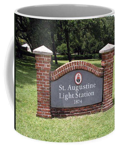 Lighthouse; Light; House; Keeper; St. Augustine; Florida; Coast; Shine; Fog; Storms; U.s.; Coast; Gu Coffee Mug featuring the photograph St. Augustine Florida Lighthouse by Allan Hughes