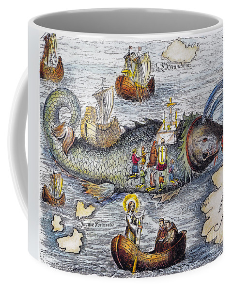 Aod Coffee Mug featuring the painting St. Brendan: Mass by Granger
