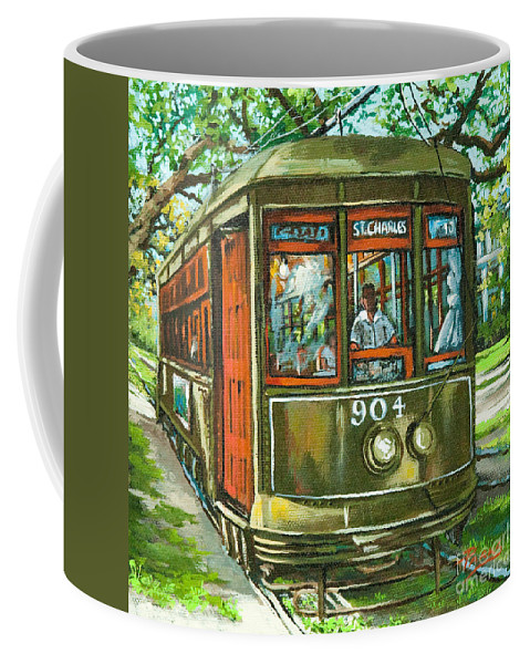 New Orleans Streetcar Coffee Mug featuring the painting St. Charles No. 904 by Dianne Parks