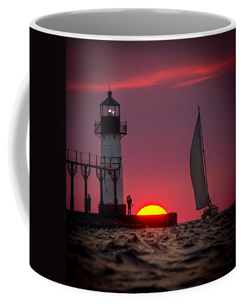 Coffee Mug featuring the photograph St. Joseph Michigan Sail by Molly Pate