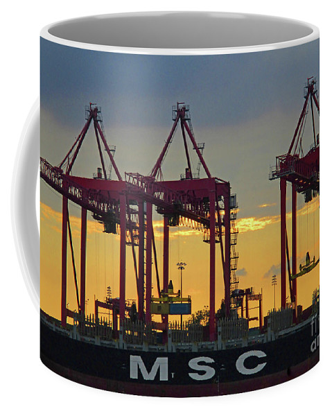 Montreal Coffee Mug featuring the photograph St Lawrence Sunset 2 by Randall Weidner