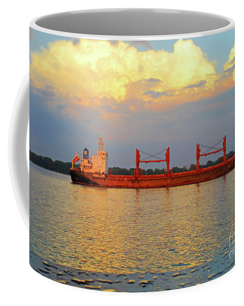 Montreal Coffee Mug featuring the photograph St Lawrence Sunset 5 by Randall Weidner