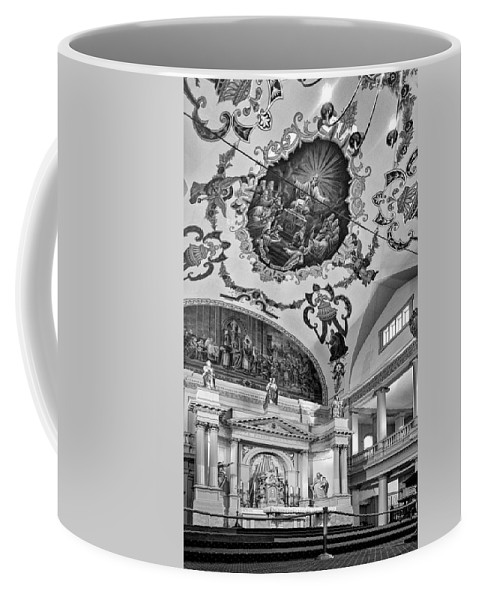 French Quarter Coffee Mug featuring the photograph St. Louis Cathedral 2 Monochrome by Steve Harrington