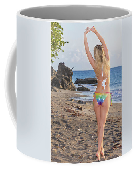 Bikini Coffee Mug featuring the photograph St Lucia Darcy 38 by Allegory Imaging