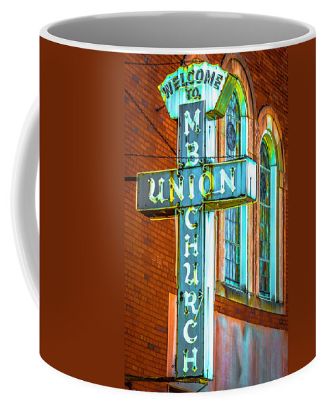 Coffee Mug featuring the photograph St Luke Church Of God In Christ Dsc2907 by Raymond Kunst