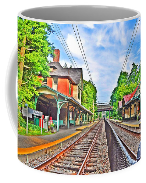 Philadelphia Coffee Mug featuring the photograph St. Martins Train Station by Bill Cannon