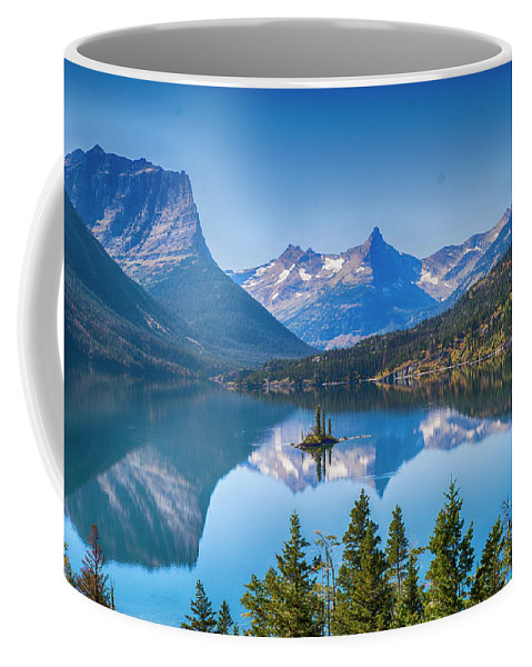 Lake Coffee Mug featuring the photograph St Mary Lake by Bryan Spellman