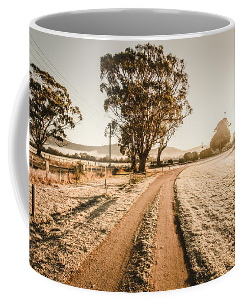 St. Marys Coffee Mug featuring the photograph St Marys Winter Country Road by Jorgo Photography - Wall Art Gallery