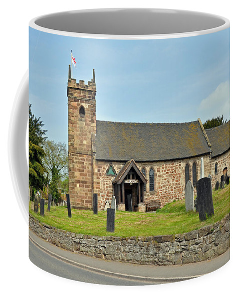 Sky Coffee Mug featuring the photograph St Michael's Church At Willington by Rod Johnson