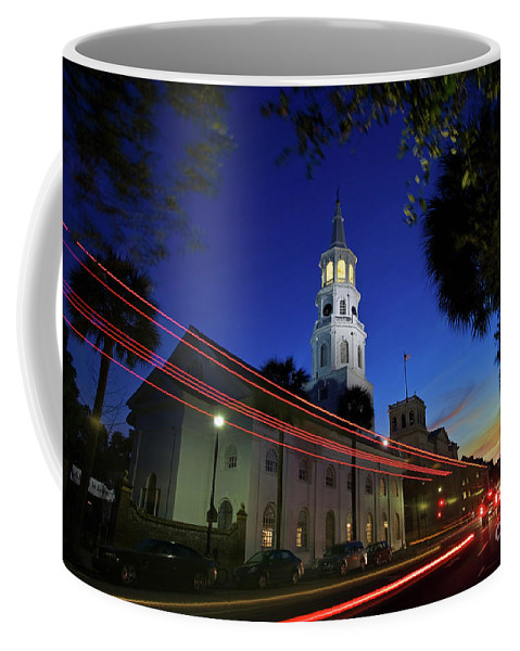 Charleston Coffee Mug featuring the photograph St. Michael's Episcopal Church In Charleston, South Carolina by Sam Antonio Photography
