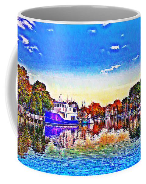 St. Michael's Coffee Mug featuring the photograph St. Michael's Marina by Bill Cannon