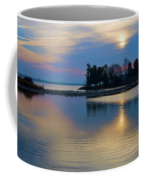 St Michaels Coffee Mug featuring the photograph St. Michael's Sunrise by Bill Cannon