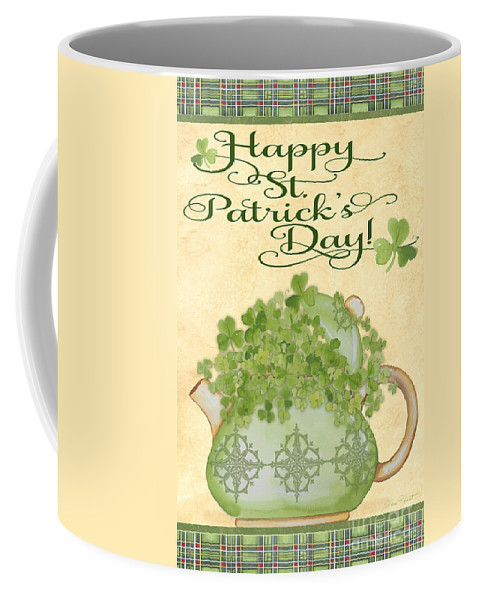 Saint Patrick Coffee Mug featuring the painting St. Patrick-jp3192-a by Jean Plout