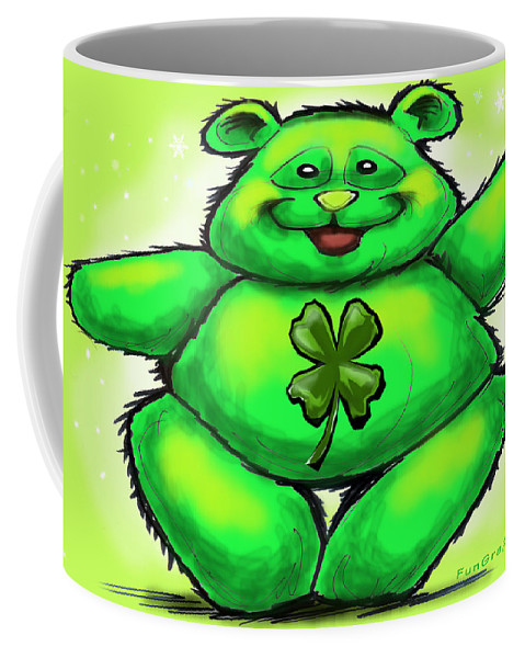 St. Patrick Coffee Mug featuring the painting St. Patrick by Kevin Middleton
