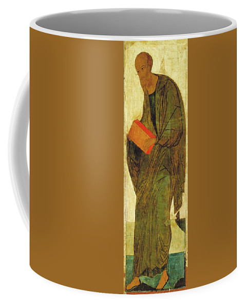 Andrei Rublev Coffee Mug featuring the painting St Paul. From Deisus Tier by Andrei Rublev