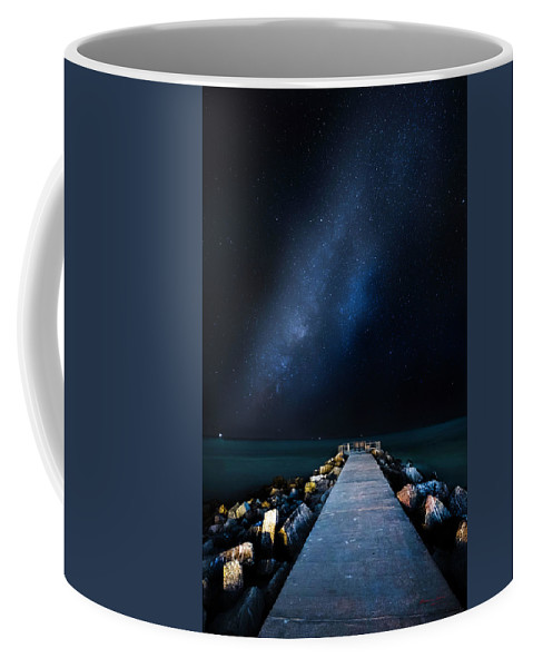 Galaxy Coffee Mug featuring the photograph St. Pete Night by Marvin Spates