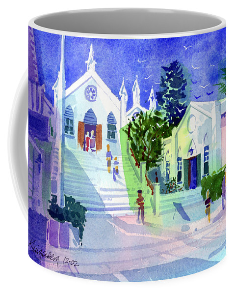 St. Peters Coffee Mug featuring the painting St. Peter's Church by Lee Klingenberg