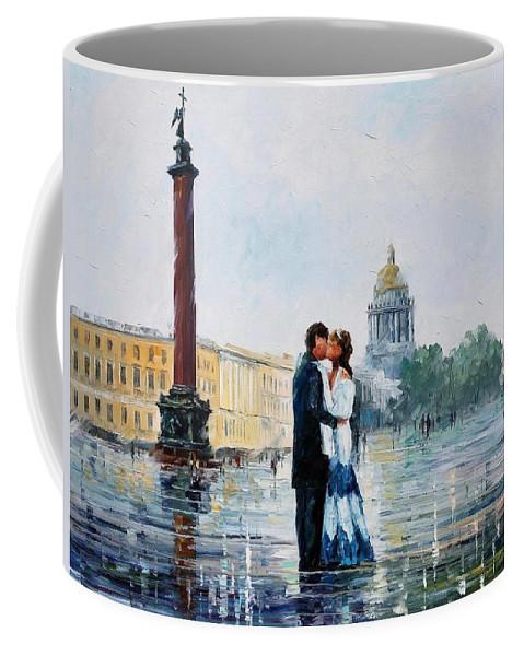 Afremov Coffee Mug featuring the painting St. Petersburg by Leonid Afremov