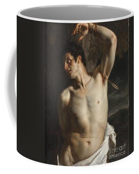 Sebastian Coffee Mug featuring the painting St. Sebastian by Hippolyte Paul Delaroche