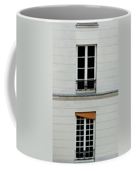 Windows Coffee Mug featuring the photograph Stacked French Windows by Jani Freimann