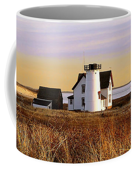 Stage Harbor Coffee Mug featuring the photograph Stage Harbor Lighthouse Chatham by Charles Harden