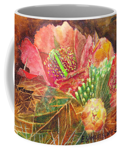 Staghorn Coffee Mug featuring the painting Staghorn In Bloom by Eric Samuelson