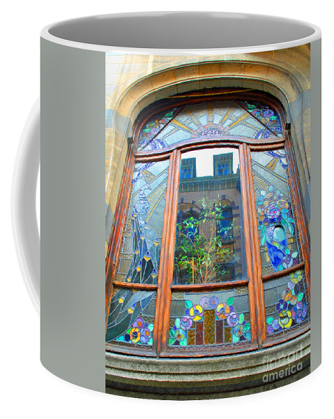 Stain Coffee Mug featuring the photograph Stain Glass Of Brussels by Jost Houk