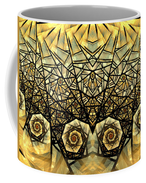 Fractal Coffee Mug featuring the digital art Stained Glass Summer by Amorina Ashton