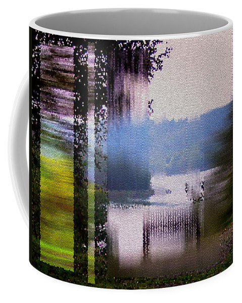 Stained Glass Coffee Mug featuring the digital art Stained Glass View by Donna Blackhall