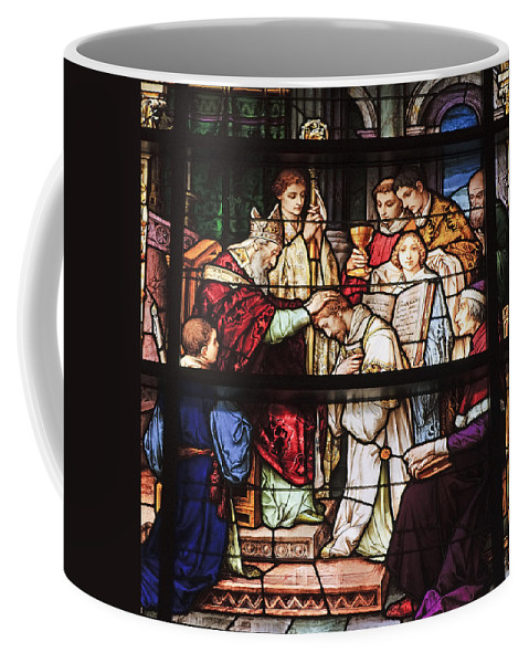 Window Coffee Mug featuring the photograph Stained Glass Window by Kenneth Albin