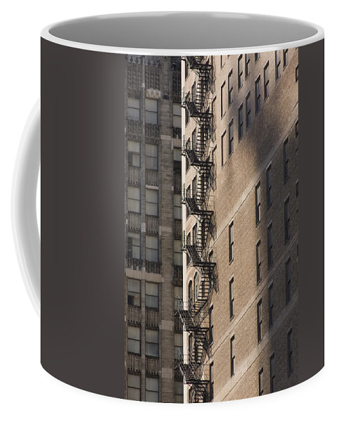 Chicago Windy City Metro Urban Building Stairs Windows Light Shaddow Coffee Mug featuring the photograph Stairs by Andrei Shliakhau