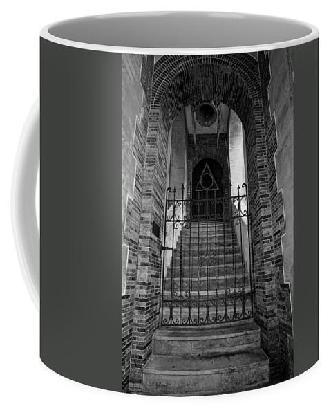 Stairs Coffee Mug featuring the photograph Stairs Beyond B-W by Christopher Holmes