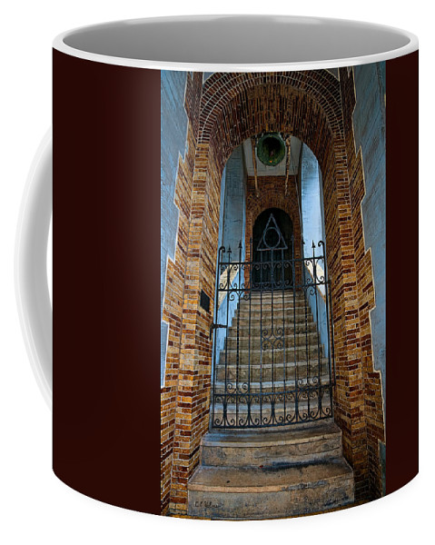 Architecture Coffee Mug featuring the photograph Stairs Beyond by Christopher Holmes
