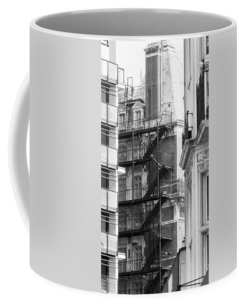 16x9 Coffee Mug featuring the photograph Stairs Outside Building by Jacek Wojnarowski
