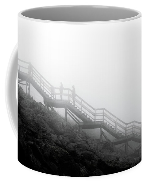 Stairs Heavens Black White Mono Coffee Mug featuring the photograph Stairs To The Heavens by Luke Sedor